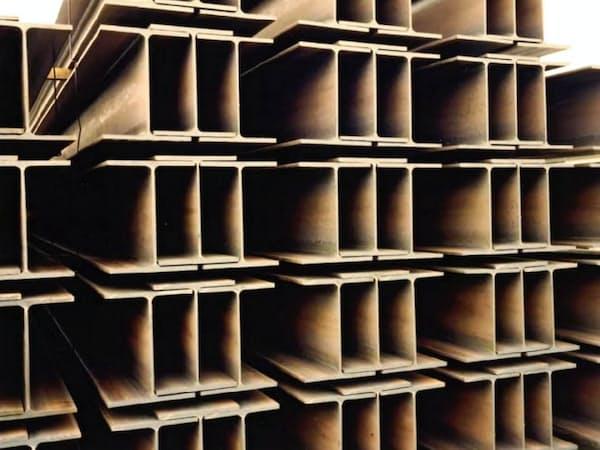 建設市場などは堅調が続くとみる(東京製鉄のH形鋼)
