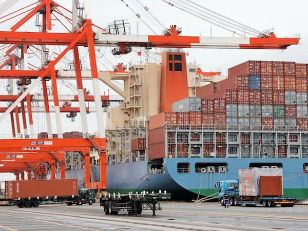 米中貿易摩擦が中部企業の輸出にも影響を与え始めた(愛知県飛島村の名古屋港)