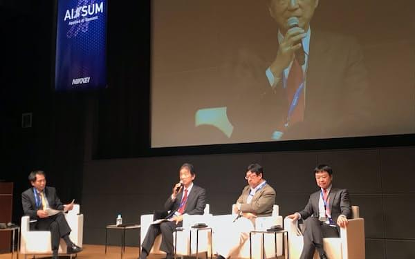 アイサムでは人材育成などのAI戦略を議論した(23日、東京・丸の内)