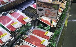 国産牛肉が値上がりする中で、輸入牛肉が国内市場に浸透した