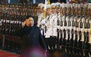 ロシア訪問に出発する金正恩朝鮮労働党委員長(24日未明)=朝鮮中央通信
