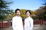 ダブリューベンチャーズを設立した新和博氏(左)と東明宏氏