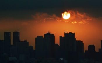 「夕焼け」の写真にはタービンの情報がひそかに埋め込まれていた(写真はイメージ)