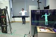 人の運動や筋肉の動きをリアルタイムで解析するAIなどが披露された