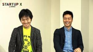 出村賢聖(でむら けんせい)(左)1997年生まれ。中学生時代からロボット開発に本格的に取り組み、米シリコンバレーの企業で短期間働いたことがある。2016年にD.K.T.を設立し社長に。 長安成暉(ながやす なりき)1998年生まれ。2017年にX-mov Japanを設立し社長兼最高経営責任者(CEO)に。関西学院大学在学中。