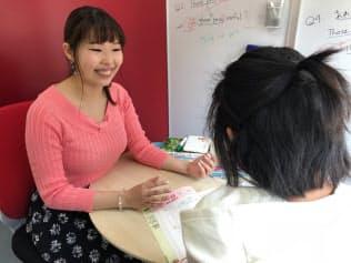 森文実さんが働く個別塾では、授業の振り替えに柔軟に対応している(東京都千代田区)