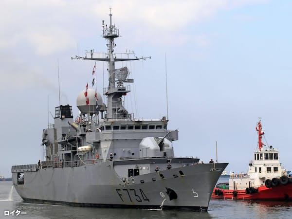 フランス海軍のフリゲート艦「バンデミエール」=ロイター・共同