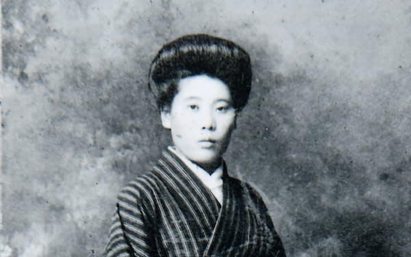 若き日の母、菊枝