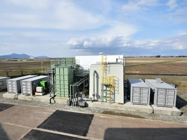 中之島浄化センターに設置したシステムは設置面積が従来比で約30%縮小できた(新潟県長岡市)
