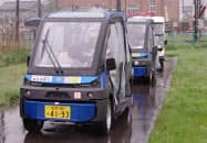 自動運転車はおよそ30分おきに永平寺口駅と永平寺を往復する