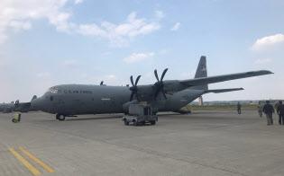 在日米軍横田基地に配備されているC130J輸送機