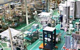 日立?#26410;螭撙?#20107;業所はIoTで生産効率を大幅に高めた(茨城県日立市)