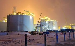 ノバテクが開発を主導した北極圏のヤマルLNG生産設備