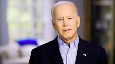 バイデン前副大統領は大統領選出馬を表明した(投稿した動画より)=ロイター