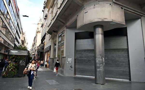 アルゼンチンは景気低迷が長引く(22日、ブエノスアイレス)