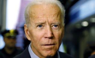 来年の米大統領選への立候補を表明した民主党のバイデン前副大統領=AP