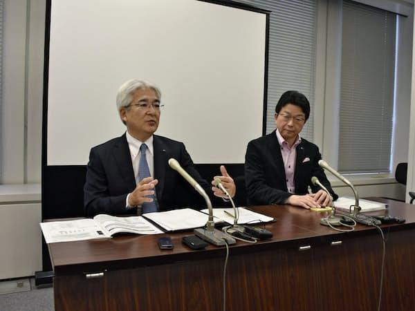 19年3月期決算で会見した鈴木善久社長最高執行責任者(COO)
