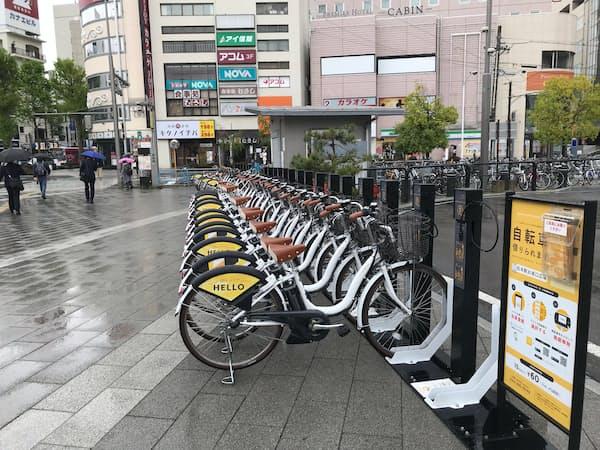 松本市はシェアサイクルを普及させ、渋滞解消をめざす