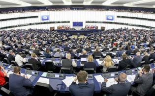 欧州議会はEUの法案や重要人事を承認?#24037;?#27177;限を持つ(仏?#25915;去楗攻蜘`ル)=欧州議会提供