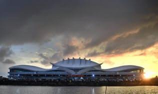 インドネシアの首都移転候補地のひとつに挙がるボルネオ(カリマンタン)島中部パランカラヤの空港=アンタラ通信