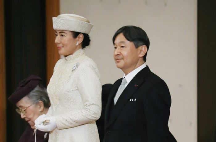 「退位礼正殿の儀」に臨む皇太子ご夫妻(30日午後、皇居・宮殿「松の間」)=代表撮影