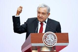 メキシコのロペスオブラドール大統領=ロイター