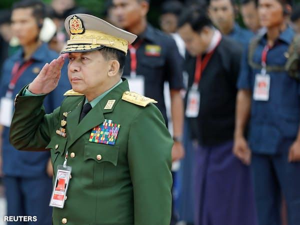 ミャンマー国軍のミン・アウン・フライン最高司令官(2018年7月)=ロイター