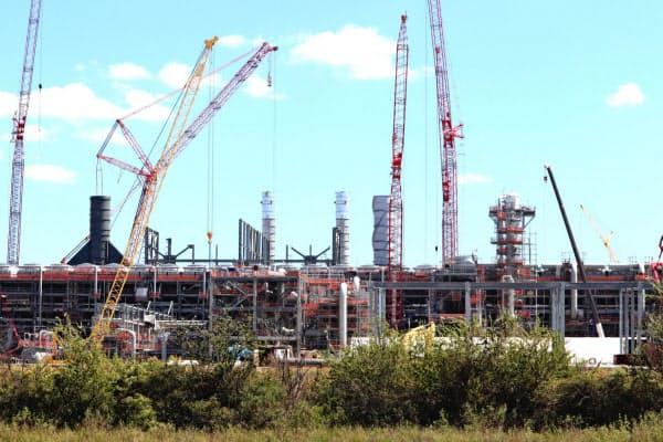 米国ではシェールガス由来のLNGプラント開発計画が目白押しだ(千代田化工が損失を計上した米ルイジアナ州のプロジェクト)