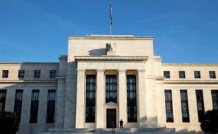 FRBは重債務企業への融資比率の高まりに警鐘を鳴らしている(ワシントンのFRB本部)=ロイター