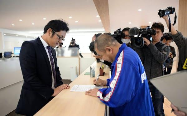 新庁舎で業務を開始した大熊町役場(福島県大熊町)