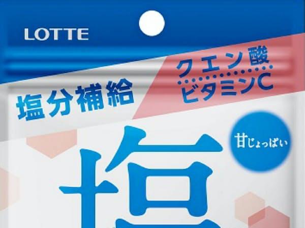ロッテが7日に発売した「塩小梅ガム」。暑い夏にかんで塩分補給できる