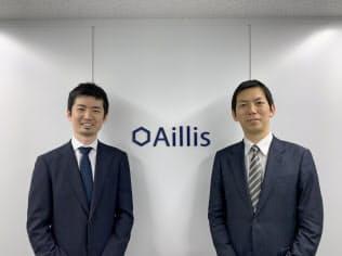 アイリスの沖山翔社長(左)と加藤浩晃副社長