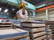 薄鋼板の在庫水準が上昇している(千葉県浦安市)