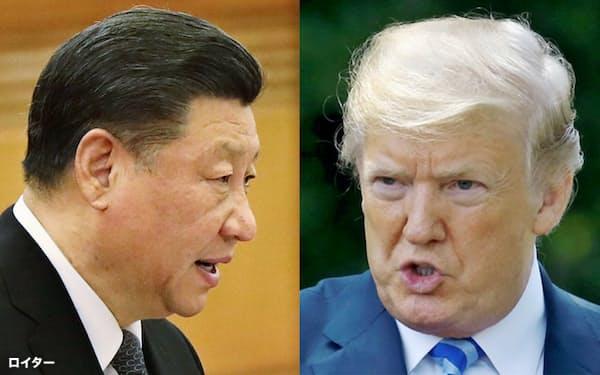 トランプ米大統領(写真右)と中国の習近平国家主席