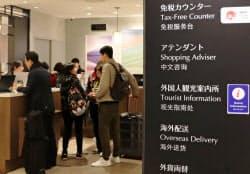 三越銀座店(東京・中央)は免税売上高が3割を占める