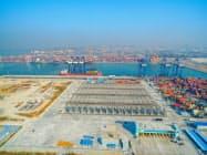 タイ中銀は米中貿易摩擦のあおりを受けた輸出の減速を懸念する(タイ最大の貿易港、レムチャバン港)