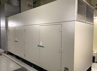 北海道内の災害拠点病院に設置された非常用発電機=共同