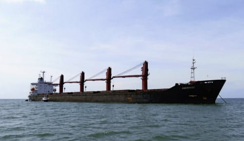 米国が没収した北朝鮮船舶「ワイズ・オネスト」。禁輸対象の石炭を輸出していた=米司法省提供・AP