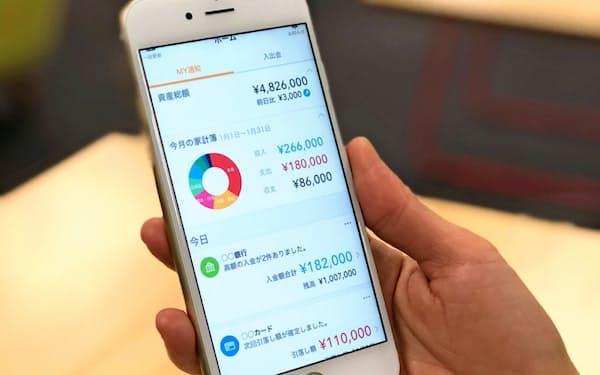 マネーフォワードの家計簿アプリは約1000万人が利用している