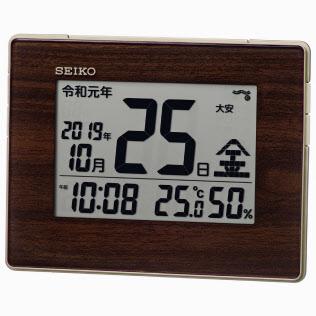 新元号「令和」で和暦を表示するセイコークロックのデジタル時計