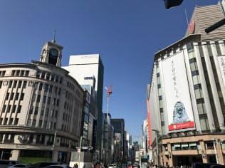 東京・銀座の店舗賃料は高級ブランドの出店需要で堅調