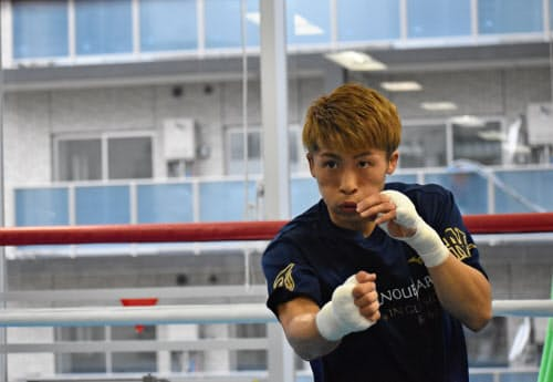 5月3日に横浜市内の大橋ジムで練習を公開した井上尚弥