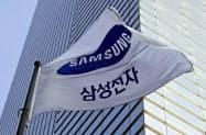 ソウル中心部に位置する韓国サムスン電子の社屋=共同