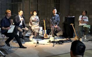 イベントでは「ゴッタン」を巡るトークや演奏があった(鹿児島市)