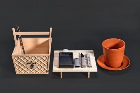 斎田点定の儀で使われる道具一式=宮内庁提供