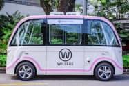 シンガポール企業が制御技術を提供する車両(写真)を、三井物産系の現地カーシェアリング会社に運用を委託して実験を行う