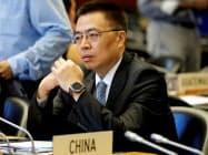 中国はWTOでも米国と火花を散らしている(中国の張向晨・WTO大使)=ロイター