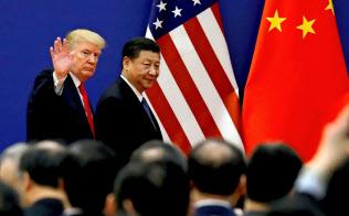 トランプ大統領(左)は米中首脳会談を開く意向を示した=ロイター