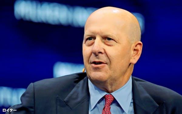ゴールドマンのソロモンCEOは商業銀行事業の拡大を目指す=ロイター