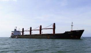 米が差し押さえた北朝鮮の貨物船=米司法省提供・AP・共同